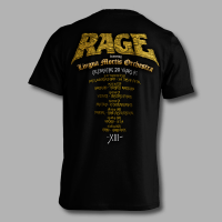 Offical Rage XIII 20th anniversary tour shirt - back
